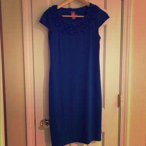 Taylor royal blue collar dress